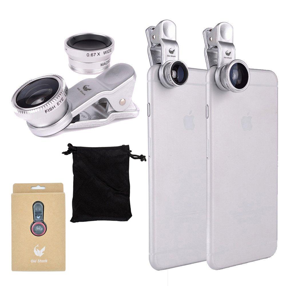 OldShark S1 Phone Camera Lens Kit Universal Fisheye Lens Macro Lens Wide Angle Lens with Travel Case Pink