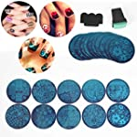 iDealhere 10 x Nail Stamping Plaque d...