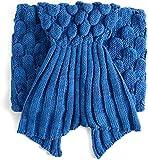 Vlunt sirena patrones de tejer una manta manta manta estilo adulto cola de sirena