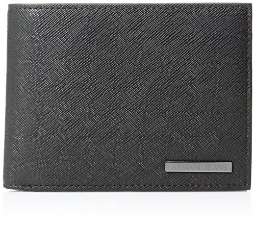 Armani-Jeans-Mens-Saffiano-Embossed-Tri-Fold-Wallet