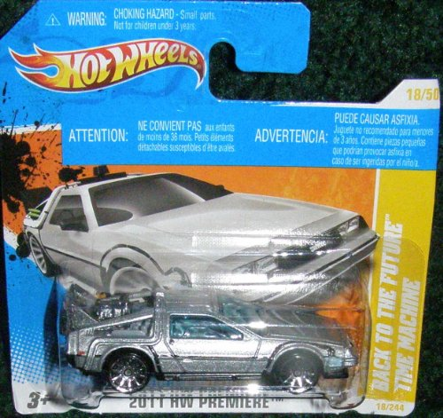 2011 HOT WHEELS HW PREMIERE 18/50 BACK TO THE FUTURE TIME MACHINE 18/244 INTERNATIONAL SHORT CARD