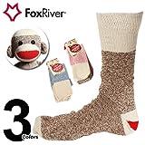 [フォックスリバー]Fox River レッドヒール モンキーソックス 2足セット fr6851 M BrownHeather(ブラウンヘザー)