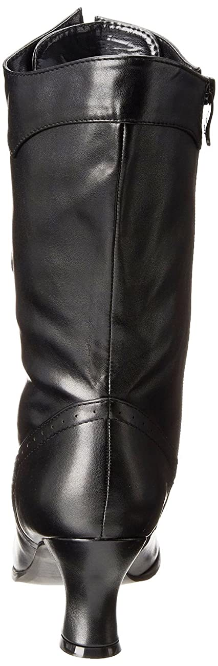 Ellie Shoes Women's Amelia Victorian Boots Black Polyurethane Vintage Ankle Boot with Zipper 3