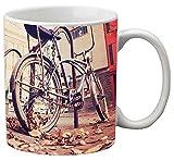 Romanshopping Round Bone China Coffee Mug, 0.3 Liter, Mirror Satin Finish