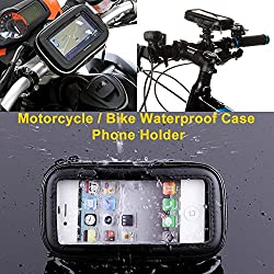 HitCar Waterproof Zipper Case Pouch Bag Motor Bike Bicycle Motorcycle Bar Mount for Samsung Nokia Phone iPhone Tablet GPS Holder (Small size for Motorcycle)