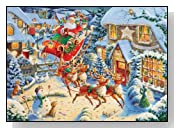 Santas Flying Visit 1000 Pieces Christmas Puzzle