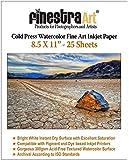 8.5x11 Cold Press Watercolor Fine Art Inkjet Paper 300gsm 25 Sheets