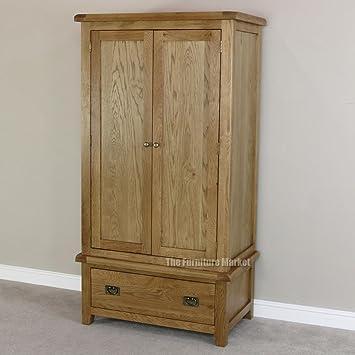 Cheshire Oak 2 Door Double Wardrobe