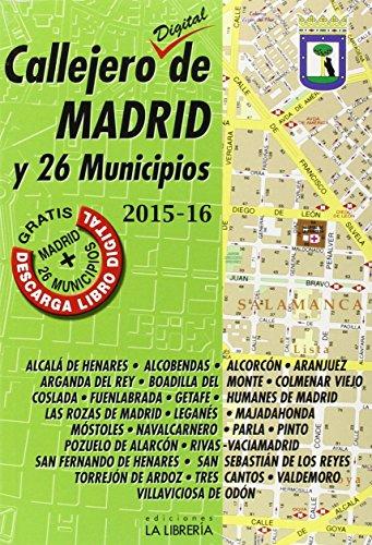 Callejero digital de Madrid y 26 municipios 2015-16
