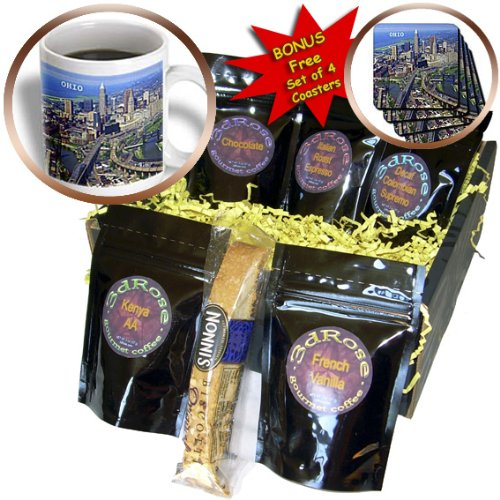 Cgb_62265_1 Florene America The Beautiful - Great State Of Ohio - Coffee Gift Baskets - Coffee Gift Basket