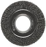 Weiler Trulock Medium Face Wire Wheel Brush, Round Hole, Steel, Crimped Wire