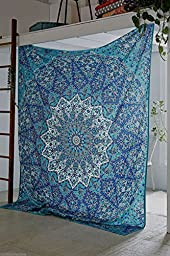 Hippie Mandala Tapestry, Hippie Tapestries, Wall Tapestries, Tapestry Wall Hanging, Indian Tapestry, Bohemian Bedding Psychedelic Tapestry Size 55 X 85 Inch\'s