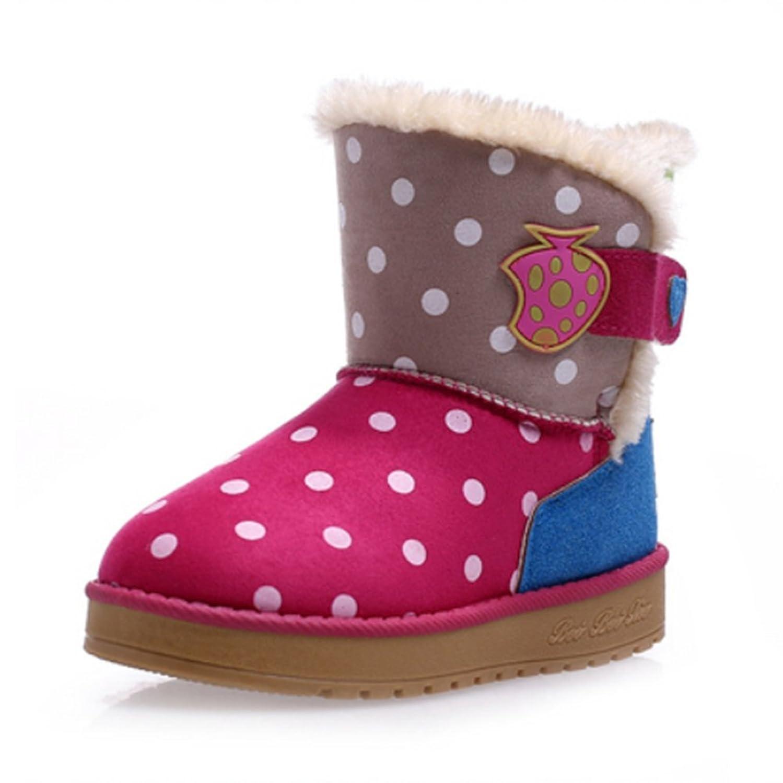 Niedliche Polka-Punkt Strawberry Winter warm Anti-Rutsch Stiefel snow boots/Schneestiefel Kinder-Schneeschuhe Jungen Stiefel Mädchenbaumwollstiefel Kinder warmen stiefel Fashion Kinder Schuhe günstig online kaufen