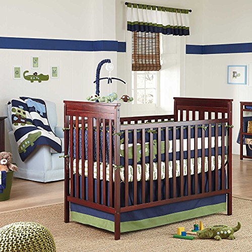 Navy And White Baby Bedding 3673 front