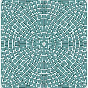 BHF FD40128 Ceramica Mosaic Kitchen and Bathroom Wallpaper - Teal
