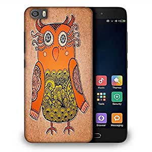 Snoogg cute owl on real cardboard background lacy bird on paper Designer Protective Back Case Cover For Samsung Galaxy J1