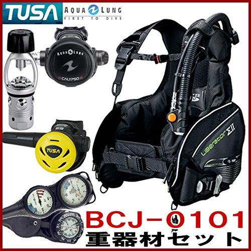 ダイビング重器材セット TUSA BCJ-0101 BCD SS11Jオクトパス アクアラング カリプソクラシックレギュレーター トラスト3ゲージ S