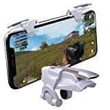 Mobile PUBG Triggers, YOUNI Cell Phone Game Controllers - Sensitive Shoot and Aim Fire Buttons Shooter Handgrip for PUBG Mobile - 1Pair(L1R1) (White) (Color: White)