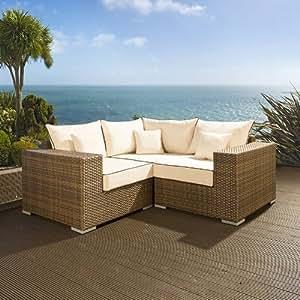 Luxury outdoor garden l shape corner sofa for Sofa exterior amazon