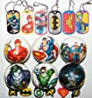 Dc Superhero Batman, Superman, Justice League Deluxe Party Favors Set of 18 with Soft Foam Balls, Dog Tags and Pencil Top Erasers!
