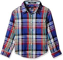 Gant Boys' Shirt (GBSFF0023_Indigo Blue_S)