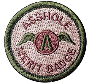 velcro multicam asshole merit badge tactical us army morale patch