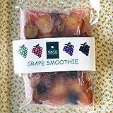 和歌山産「ぶどうスムージー」農家さんから直接分けてもらったブドウ+ レモン+みかんの花の蜂蜜のフローズンフルーツジュース・冷凍果物