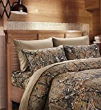 20 Lakes Super Soft Microfiber 6 Piece Camo Bed Sheets and Pillowcases(Queen, Forest)