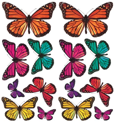 Roommates Acc0003B3D Butterfly 3-D Wall Decals, 26 Count front-576619