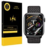[6 Pack] LK for Apple Watch Series 4 Screen Protector 40mm, [HD Clear Anti-Bubble] With Lifetime Replacement Warranty (Color: clear)