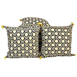 Ufc Mart Elegant Jaipuri Pure Cotton Cushion Cover Set, Color: Beige, #Ufc00414