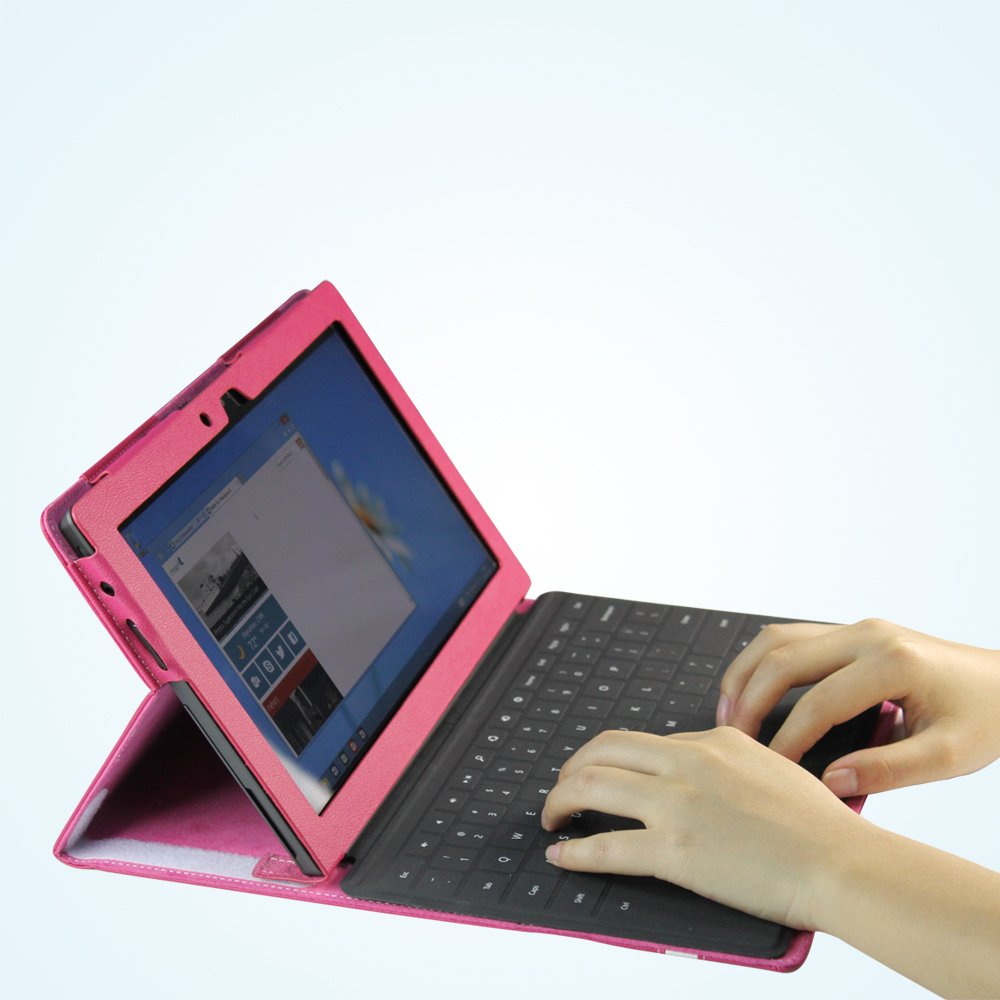 Supremery Microsoft Surface Bag Case Etui Schutzhülle Cover Sleeve Hülle with Stand und Präsentationsfunktion in Pinkreview and more information
