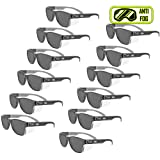 MAGID Y50BKAFGY Iconic Y50 Design Series Safety Glasses with Side Shields | ANSI Z87+ Performance, Scratch & Fog Resistant, Comfortable & Stylish, Cloth Case Included, Grey Lens (12 Pair) (Color: Grey Lens, Tamaño: 12 Pair)