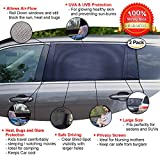 Tour Strong Car Window Sun Shade Socks - UV Protection for baby - Fits Most Sedans, Trucks, SUV - 2 pack Sunshades