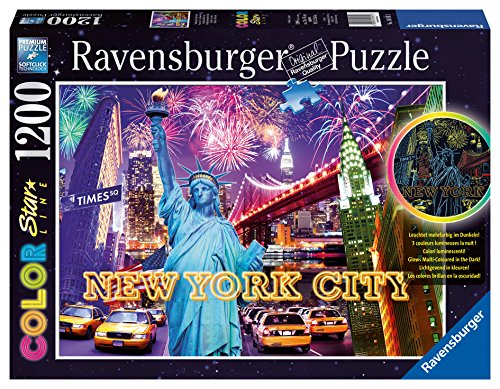 Ravensburger Colorful New York Color Starline Glow-in-The-Dark Puzzle (1200-Piece)