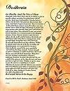 On Golden Leaves  Desiderata Poem By Max Ehrmann  Art Print
