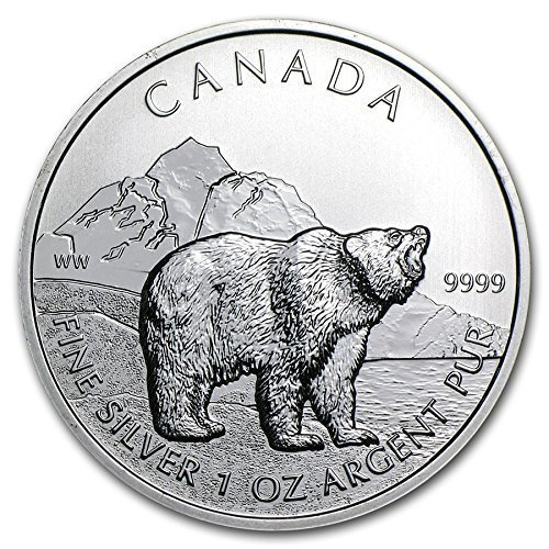 2011 Canada Grizzly Bear 1 oz Silver Coin
