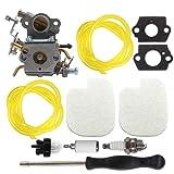 AISEN Carburetor for 545070601 Poulan Pro PP3416 PP3516 PP3516AVX PP3816 PP3816AV PP4018 PP4218 PP4218AV PP4218AVHD PP4218AVL PP4218AVX PPB3416 SM4218AV Gas Chainsaw Screwdriver Adjustment Tool Kit