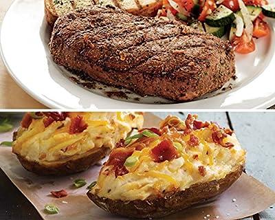 Kansas City Steaks 8 (5oz.) Top Sirloin and 8(5oz) Cheddar Bacon Potatoes