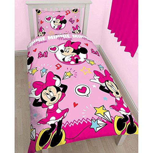 Disney Minnie Mouse, Copripiumino con rotante, poliestere, multicolore, singolo