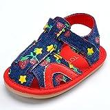 estamico Denim Patrón Baby Sandalias con parte inferior resistente al desgaste rojo rosso Talla:18-24 meses