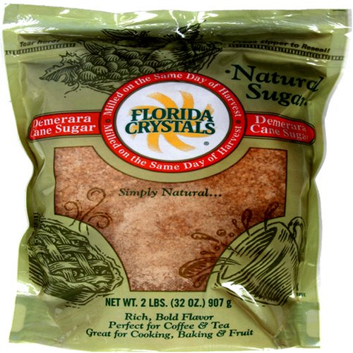 Buy Florida Crystals Demerara Cane Sugar, 2-Pound Bags (Pack of 6)