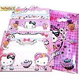 Hello Kitty Letter Set Writing Paper 40 Sheets + 20 Envelopes + Sticker + Folder