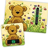 A5 Beige Bear Room Thermometer and Bear Bath Thermometer Set