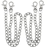 Pants Chain,Wallet Chain BESTZY 2 Pcs Pocket Chain Silver Trousers Chain for Costume Hat Decoration Outdoor Accessories