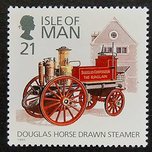 Fire Engine Douglas Horse Drawn Steamer -Framed Postage Stamp Art 14945 (Horse Drawn Steamer compare prices)