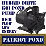 Patriot Koi Pond Pump KP2000 - 2000 GPH Koi Pond & Waterfall Pump