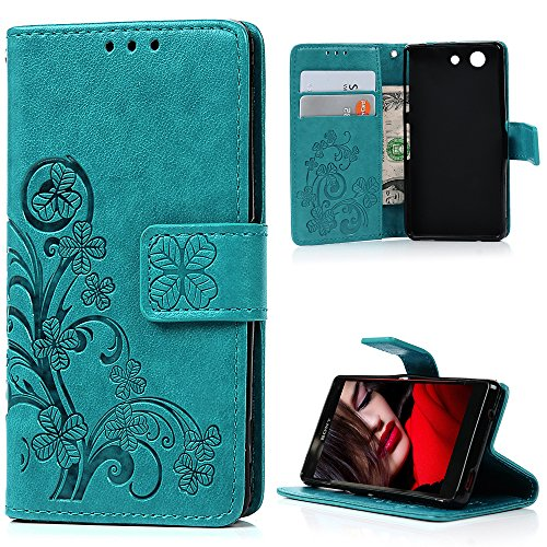 xperia-z3-compact-mini-case-yokirin-premium-soft-pu-leather-purse-wallet-emboss-lucky-leaves-pattern