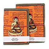 2 Papier recyclé Pcs main Notebook Journal Notepad Bouddha Imprimer Cover Dairy...