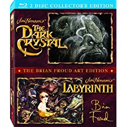 The Dark Crystal / Labyrinth (The Brian Froud Art Edition) [Blu-ray]